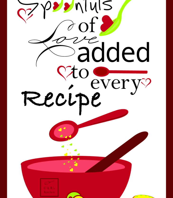 Spoonful's of love added to every recipe