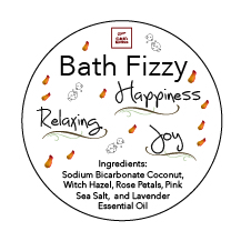 Bath Fizzy Label