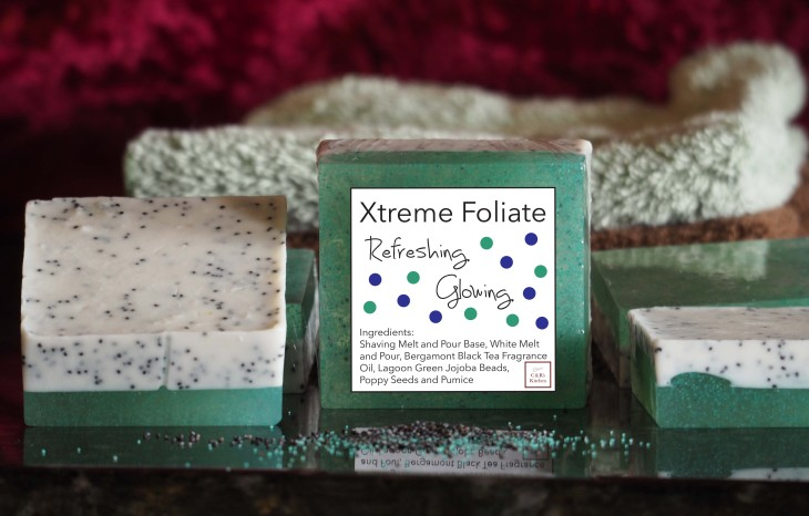 Xtreme Foliate soap, Pumice and Poppy Seed Melt and Pour