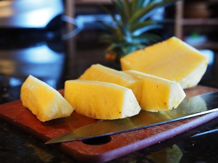 Golden pineapple cut